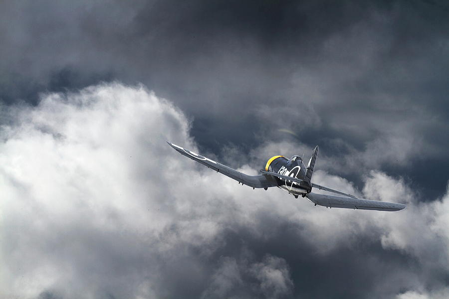 Aircraft Digital Art - Corsair - Tropical Weather by Pat Speirs