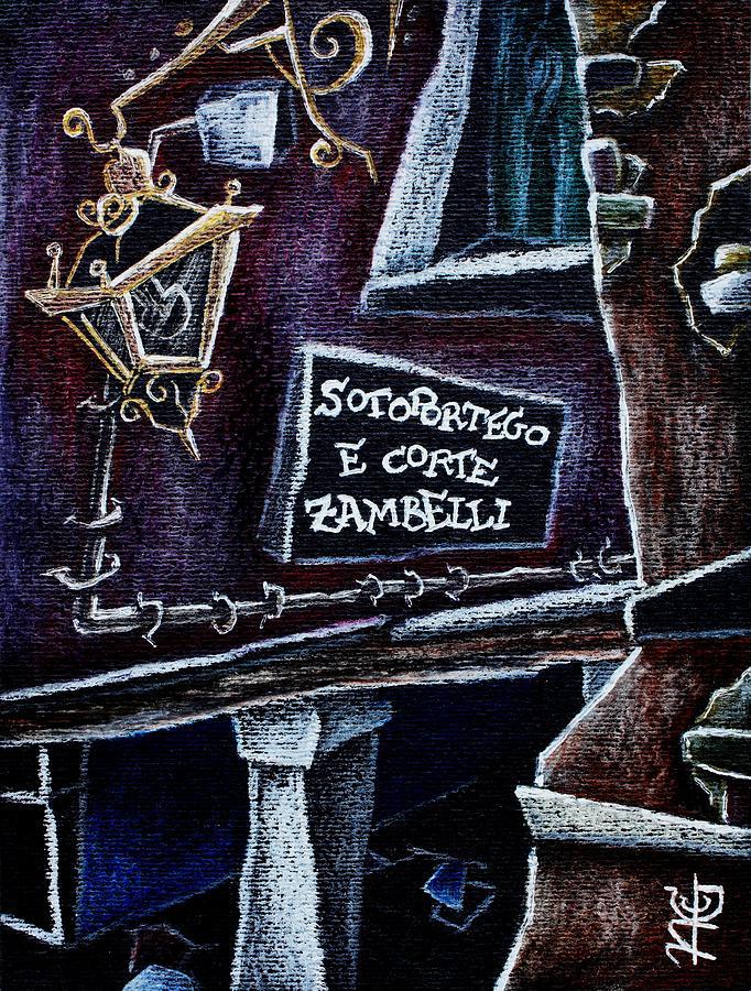 Venice Drawing - Corte Zambelli - Contemporary Venetian Artist by Arte Venezia