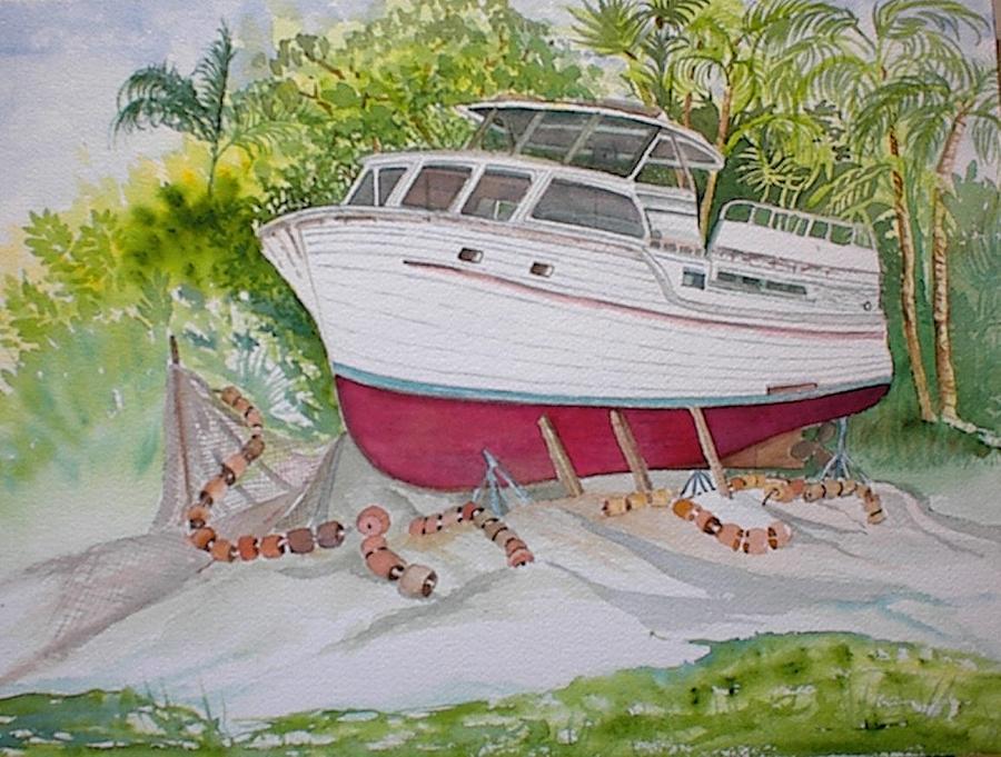 Cortez Painting - Cortez Boat by Rebecca Marona