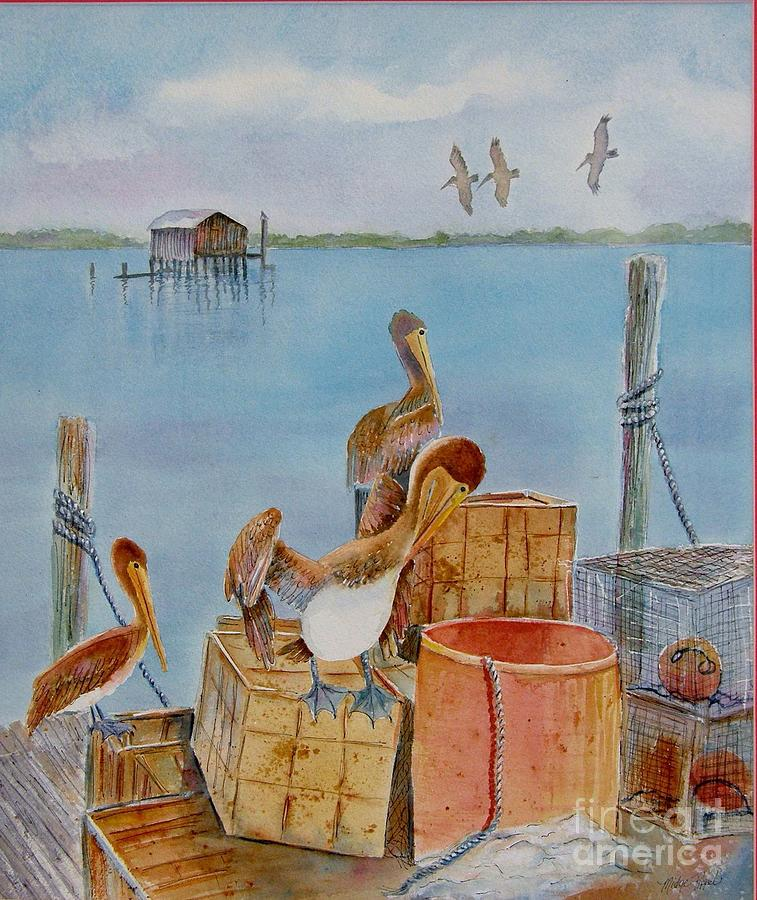 Cortez Fishing Village Painting by Midge Pippel