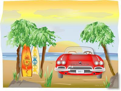 Corvette Summer Digital Art - Corvette Summer by Carlos Herbst