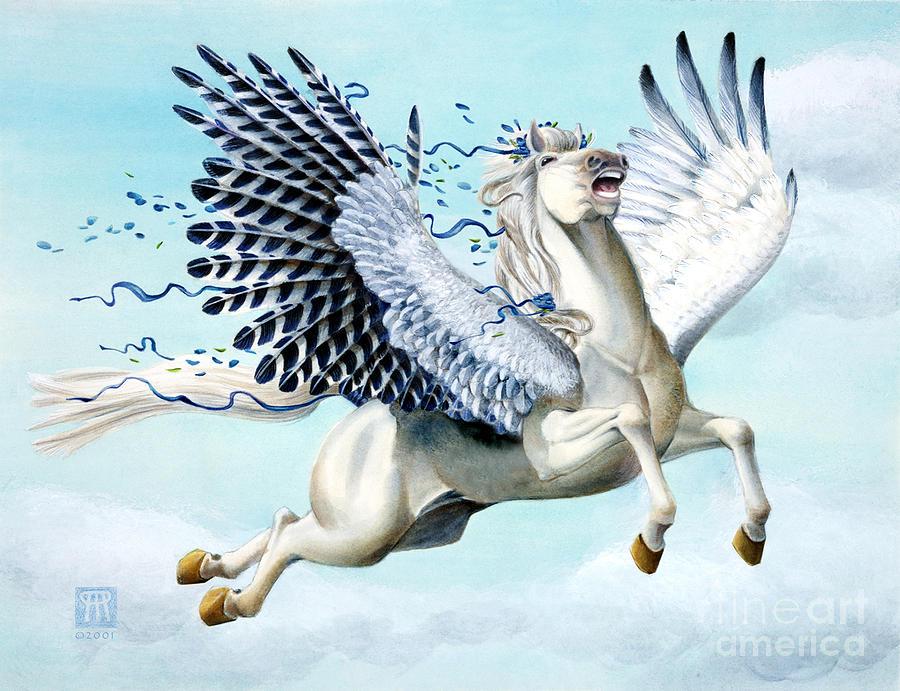 Artwork Painting - Cory Pegasus by Melissa A Benson