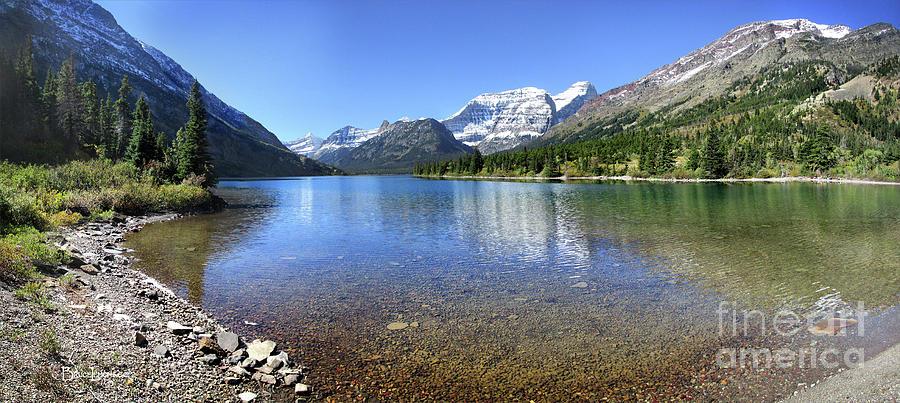 Glacier National Park Photograph - Cosley Lake Outlet - Glacier National Park by Bruce Lemons