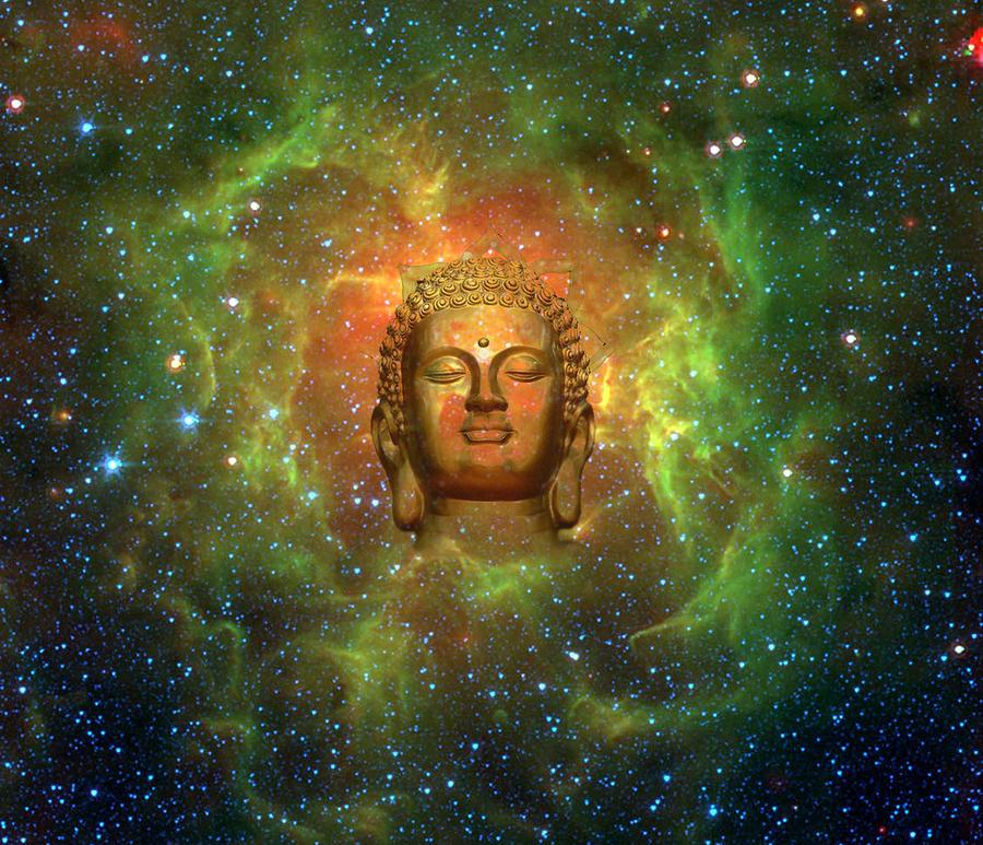 Buddha Digital Art - Cosmic Buddha by Jody Brusca