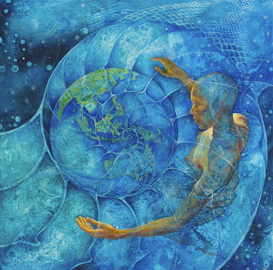 Cosmic Painting - Cosmic Embrace by Melina Del Mar