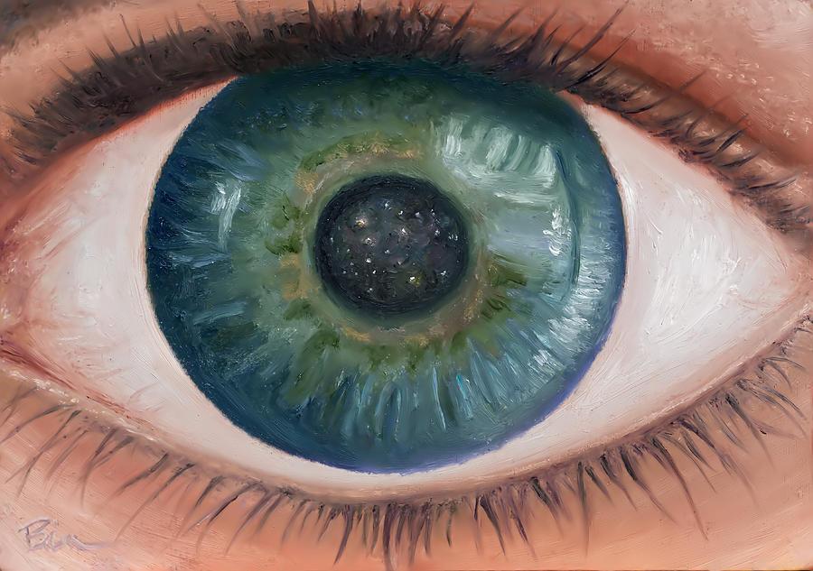 Eye Painting - Cosmic Eye by Brian Nunes