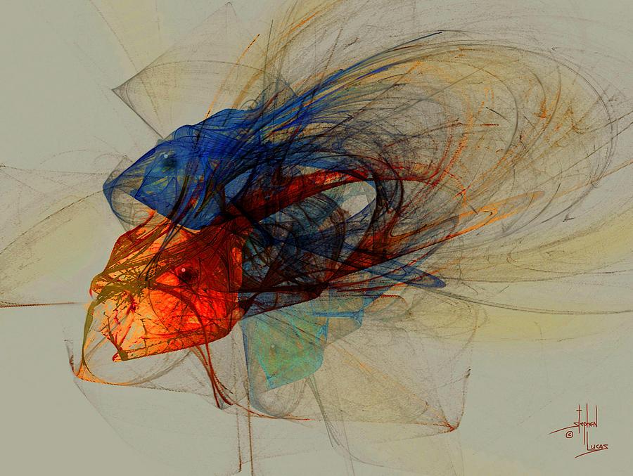 Fish Digital Art - Cosmic Fish by Stephen Lucas