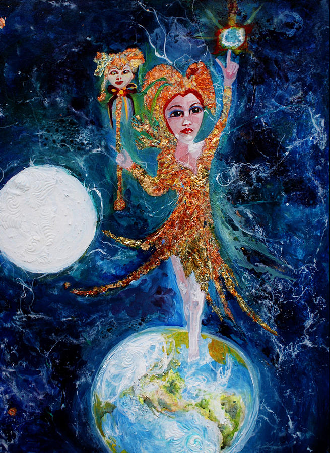 April Fool Painting - Cosmic  Fool by Mary Sonya  Conti