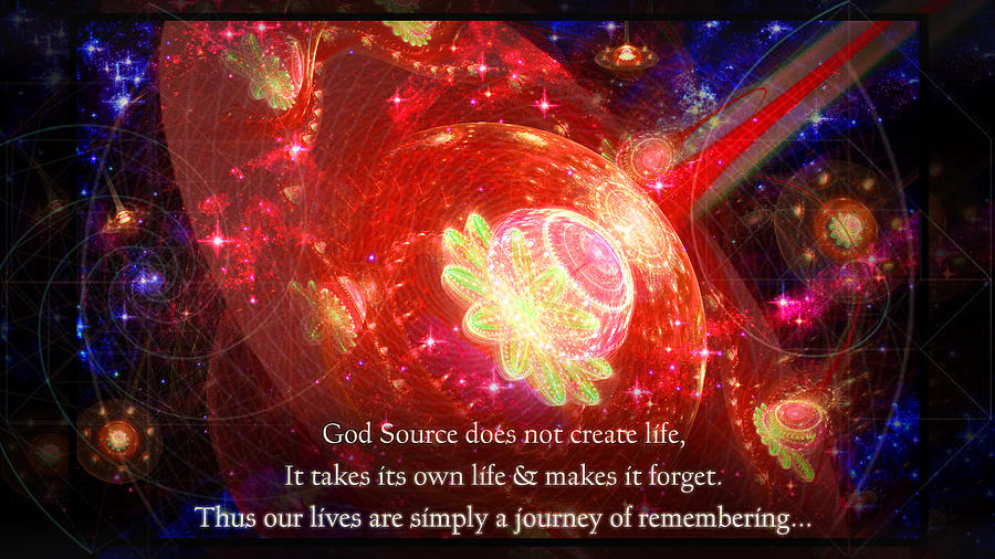 Cosmic Inspiration God Source 2 by Shawn Dall