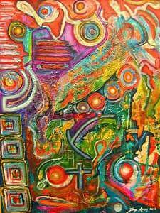 Abstract Mixed Media - Cosmic by Jorge Arcos