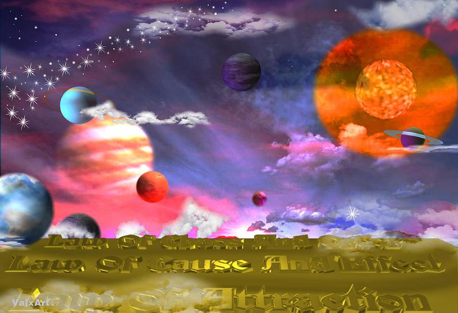 Cosmic Laws Digital Art - Cosmic Laws by By ValxArt