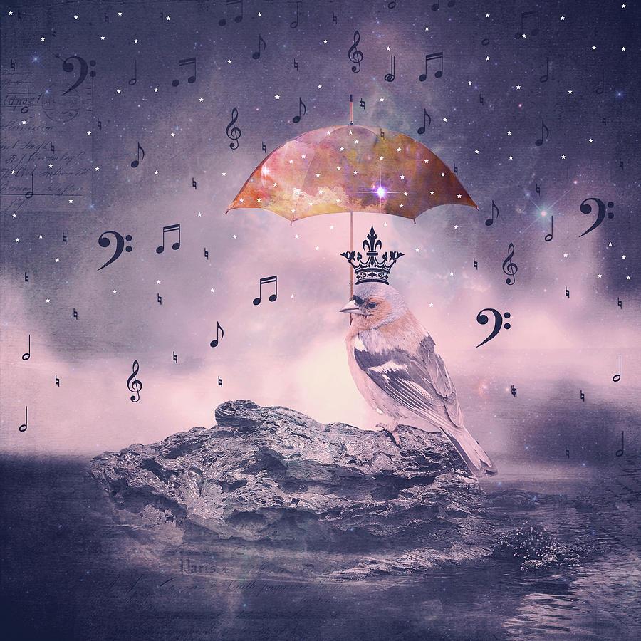 Cosmic Rain Digital Art