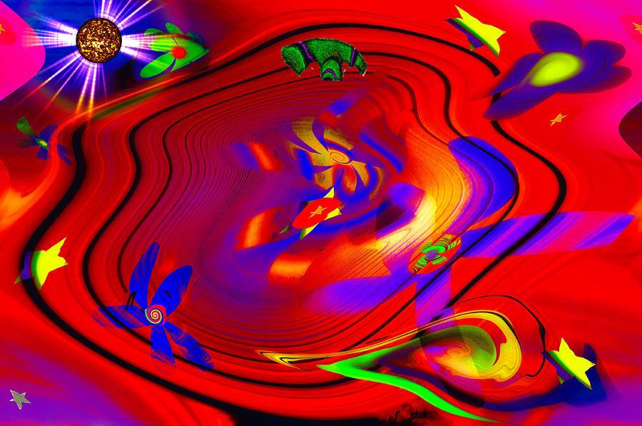Trippy Digital Art - Cosmic Soup by Bill Cannon
