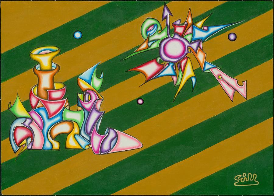 Fantasy Painting - Cosmic Steamship by            Gillustrator