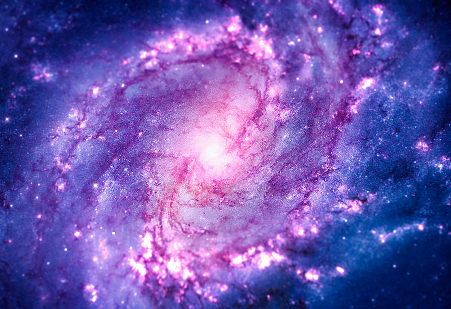 Cosmic Vacuum Cleaner Spiral Galaxy M83 Photograph