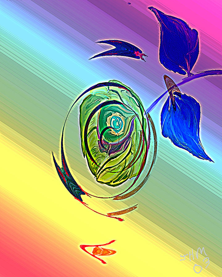 Abstract Digital Art - Cosmic Windstorm by John Mueller