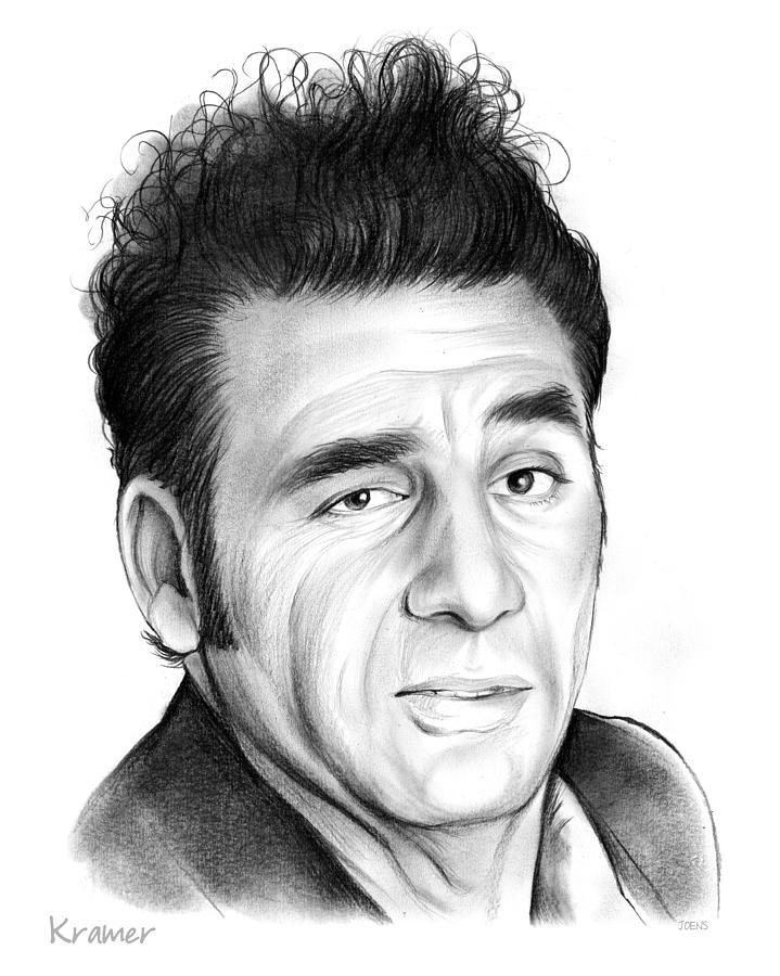 Michael Richards Drawing - Cosmo Kramer by Greg Joens