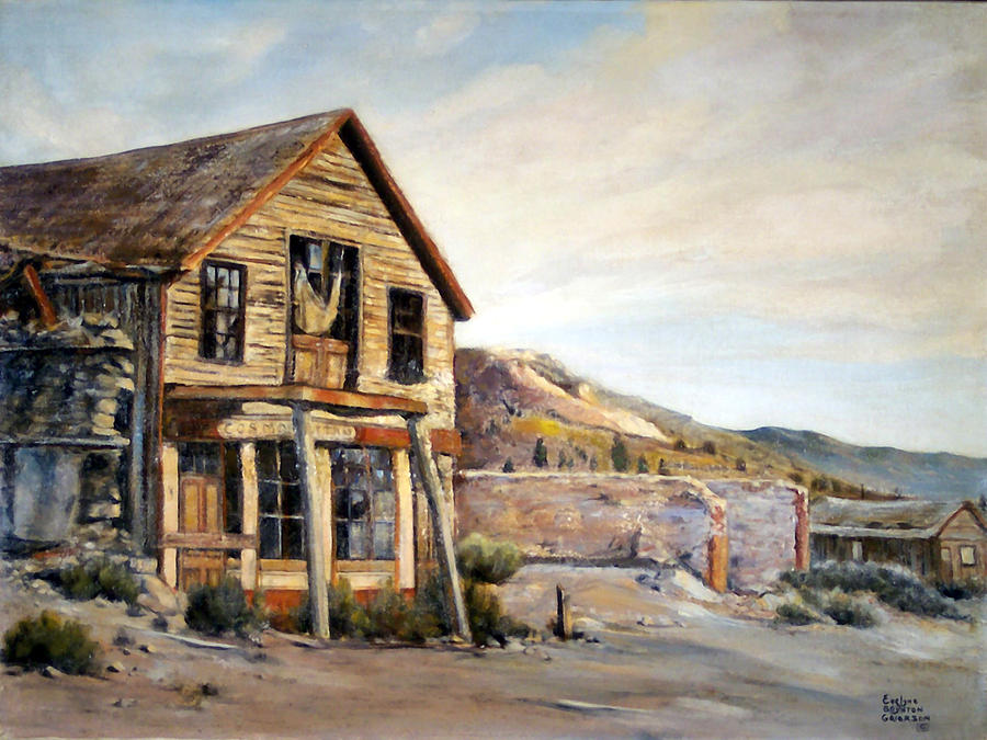 West Painting - Cosmopolitan Playhouse by Evelyne Boynton Grierson