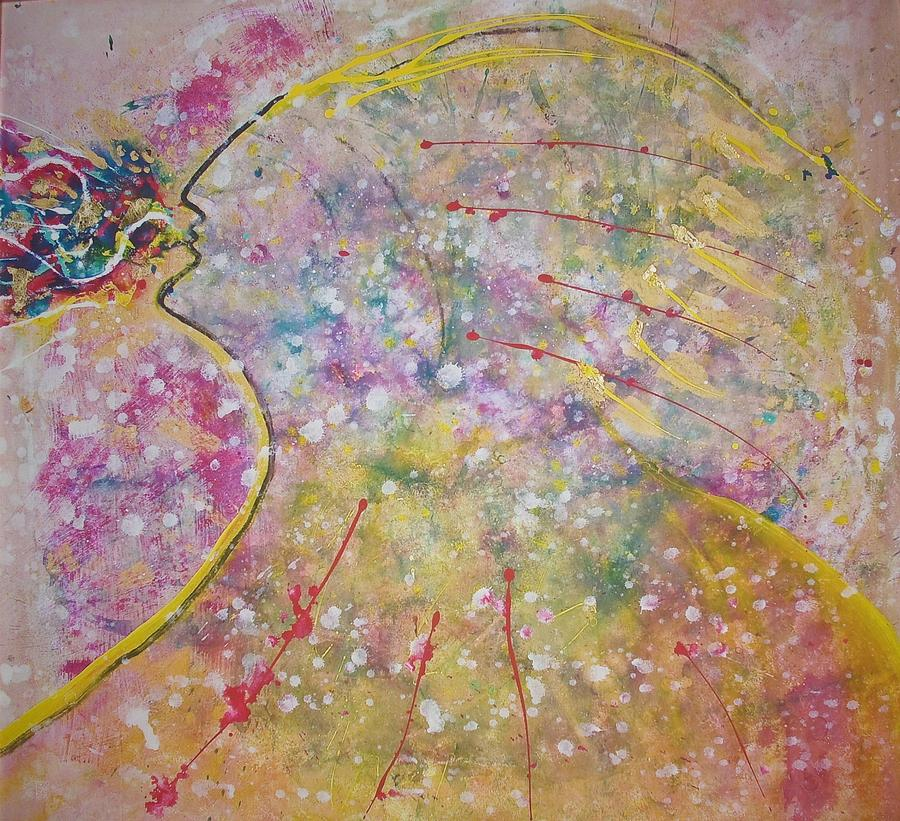 Native American Painting - Cosmos Song by Ruth Beckel