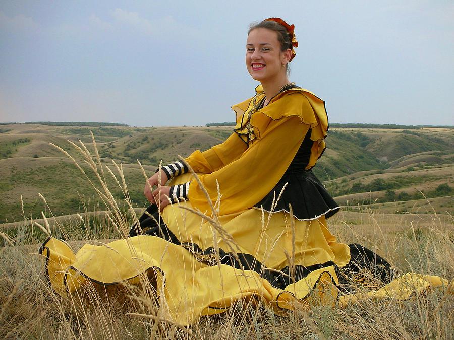 Cossack Young Lady by Irina Archangelskaya
