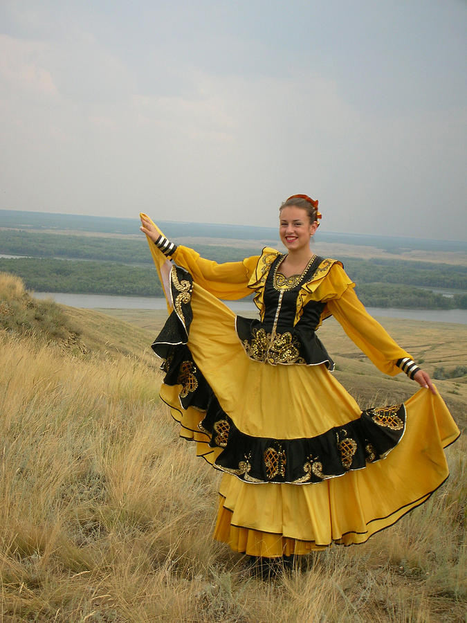Cossack Young Woman by Irina Archangelskaya