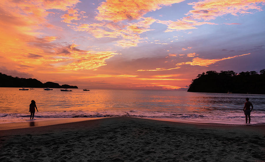 Beach Photograph - Costa Rica Sunset by Michael Santos