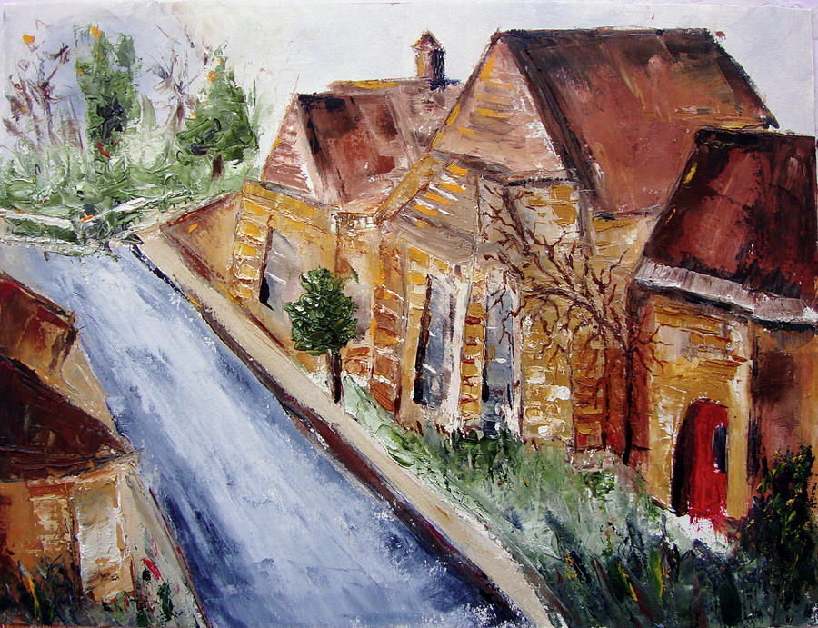 Cotswolds Painting - Cotswold Street by Roxy Rich