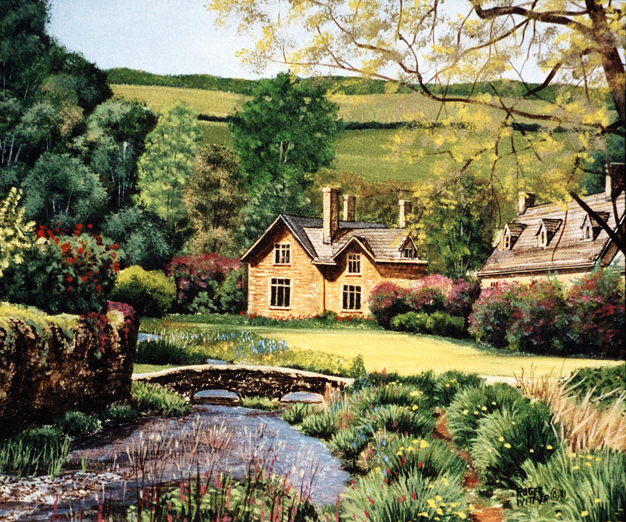 Cotswolds Painting - Cotswolds by Roger Witmer