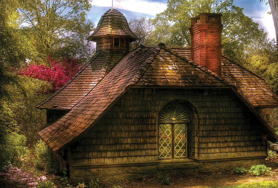 Savad Photograph - Cottage - Sweet Old Lady House by Mike Savad