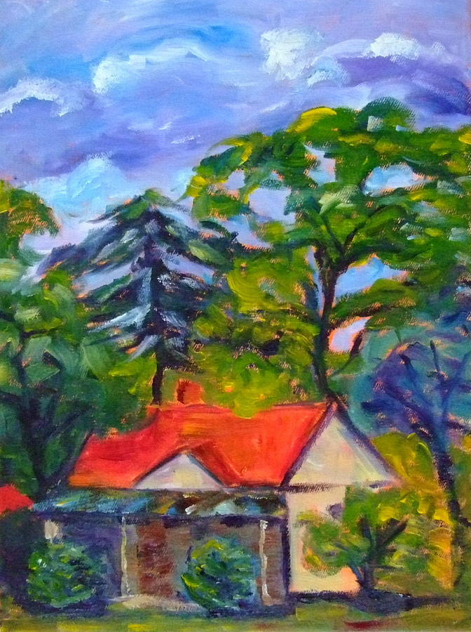 Cottage Painting - Cottage At Wellbourne by Glynis Berger