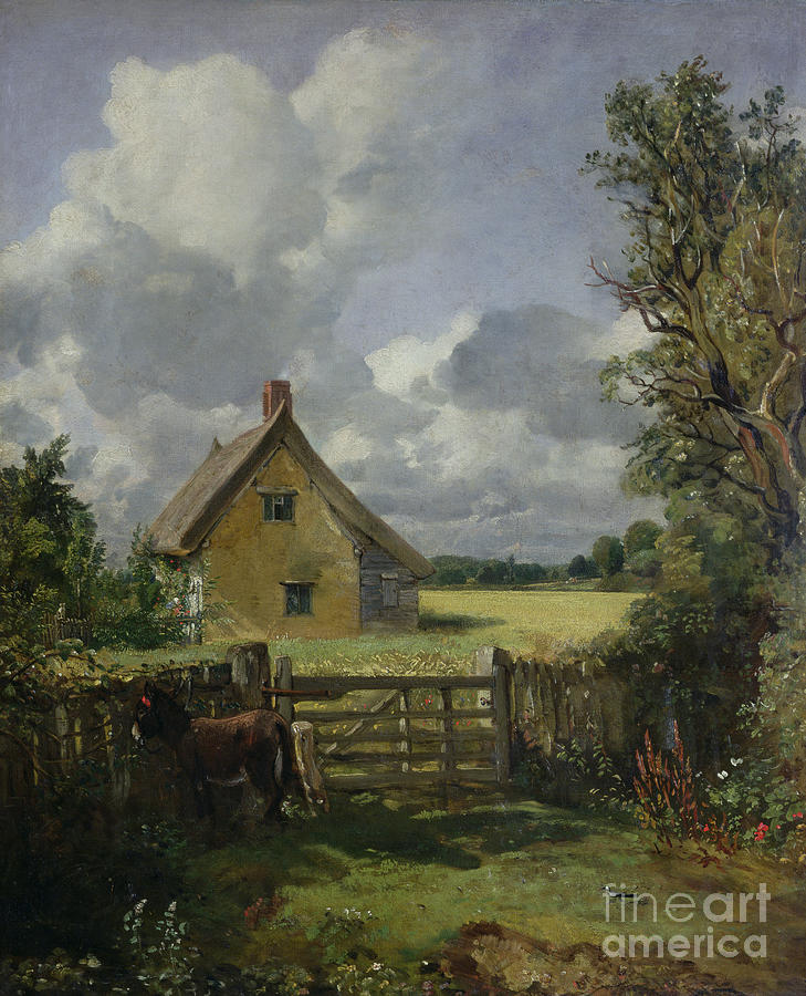 Cottage Painting - Cottage In A Cornfield by John Constable