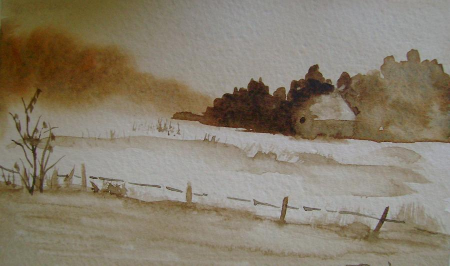 Cottage Painting - Cottage In The Trees by Dottie Briggs