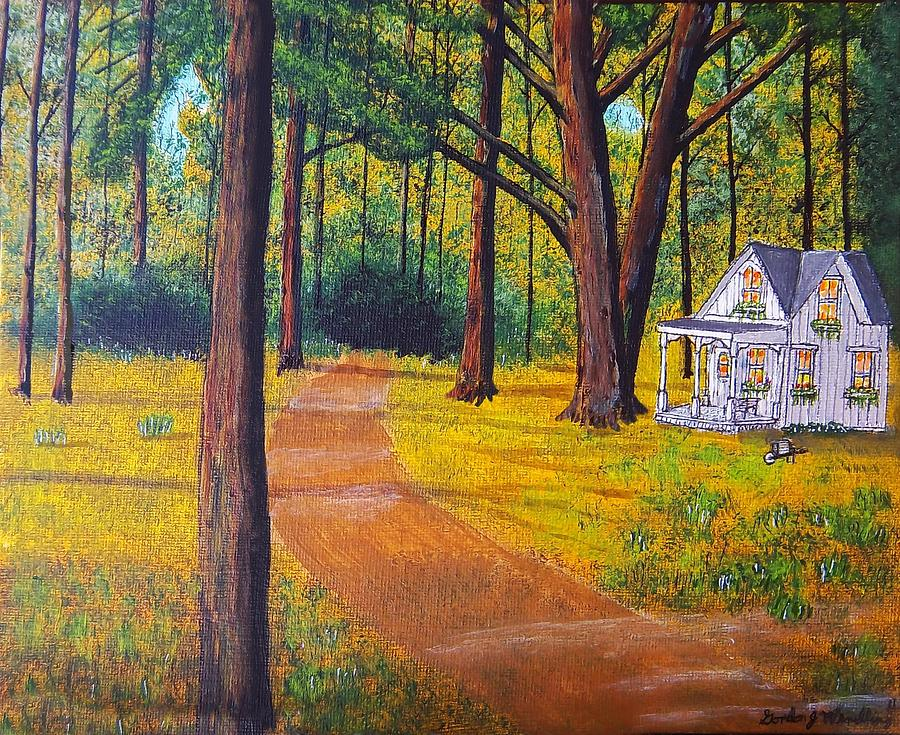 Cottage In The Woods Painting By Gordon Wendling