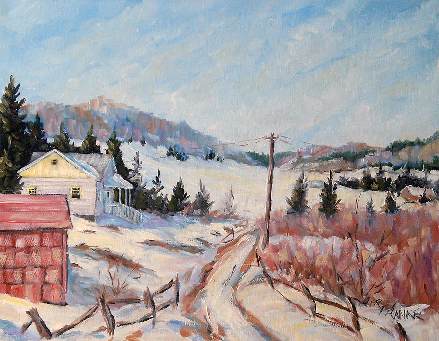 Road Painting - Cottage Road by Richard T Pranke