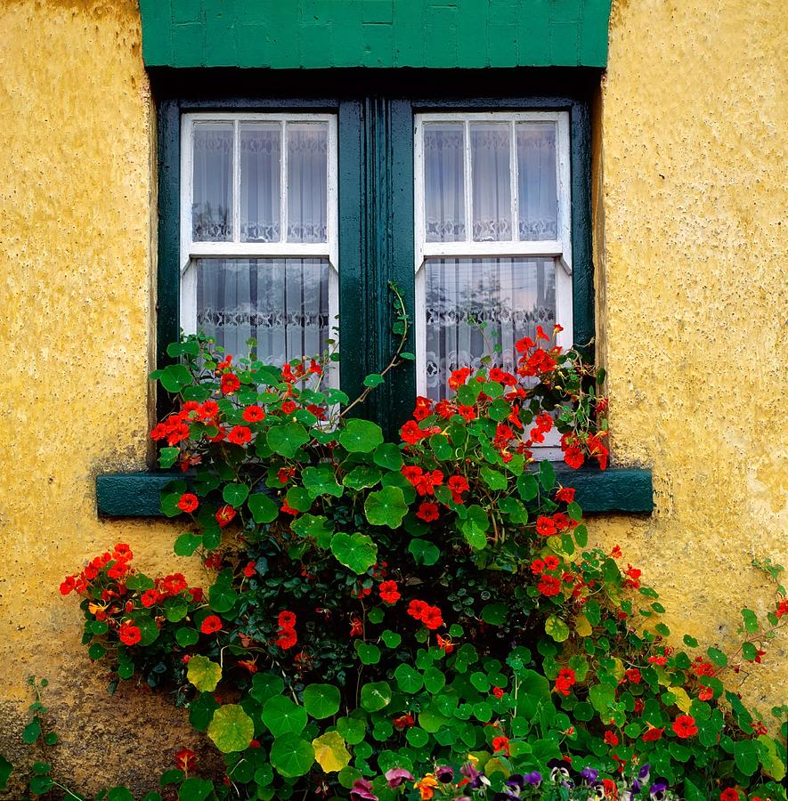 a country photo window pretty stock view garden in cottage summer through into