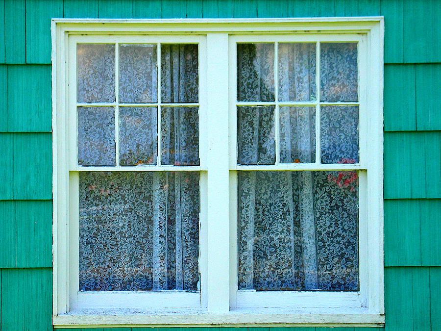 Window Photograph - Cottage Windows by Mg Blackstock