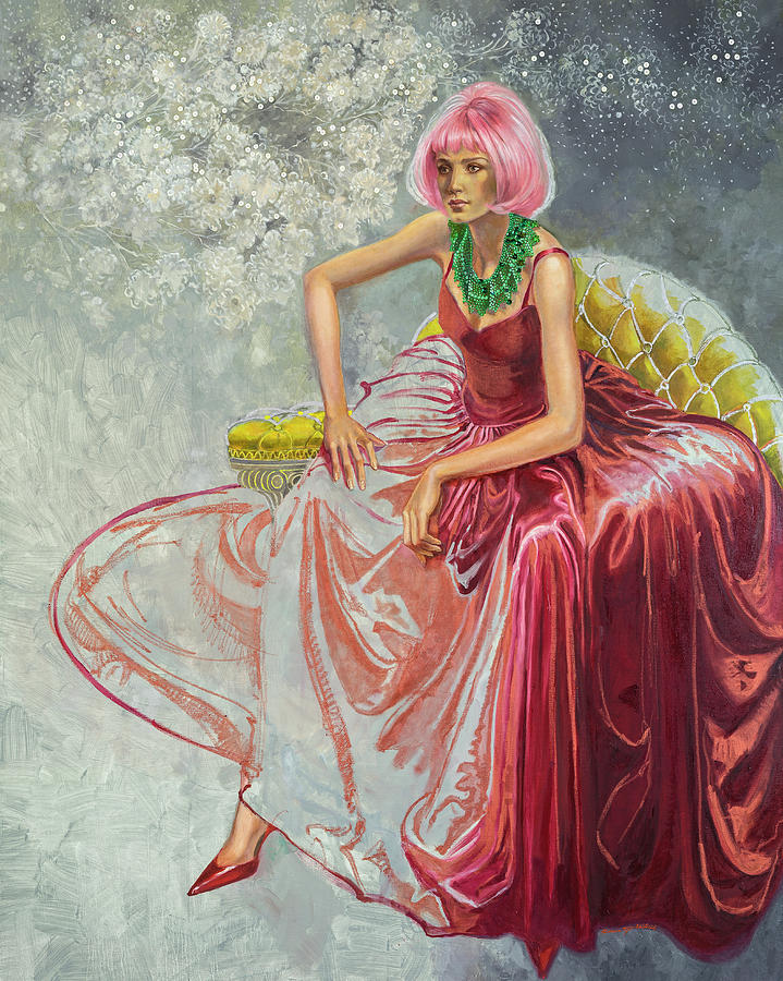 Fashion Illustration Painting - Cotton Candy by Barbara Tyler Ahlfield