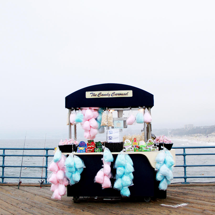 Cotton Candy Photograph - Cotton Candy Carousel- By Linda Woods by Linda Woods