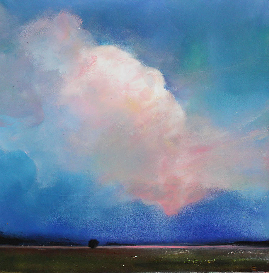 Cotton Candy Clouds Painting By Toni Grote