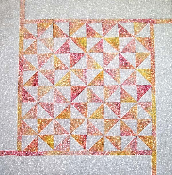 Art Quilt Tapestry - Textile - Cotton Candy Pinwheels by Pam Geisel