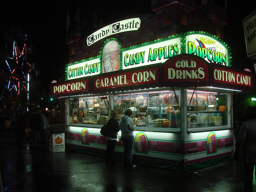 Carnival Photograph - Cotton Candy Please by Wayne Whitney