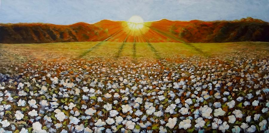 COTTON FIELD SUNSET by Jeanette Jarmon