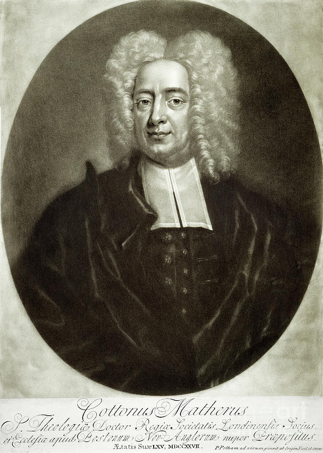 18th Century Drawing - Cotton Mather 1663-1728 by Granger