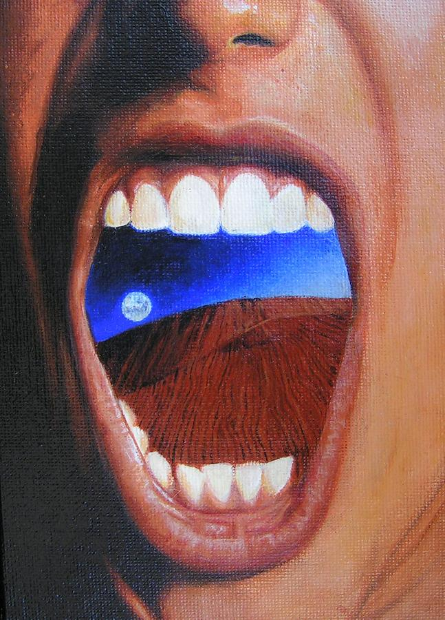 Cotton Mouth Painting By Jimmy Ovadia