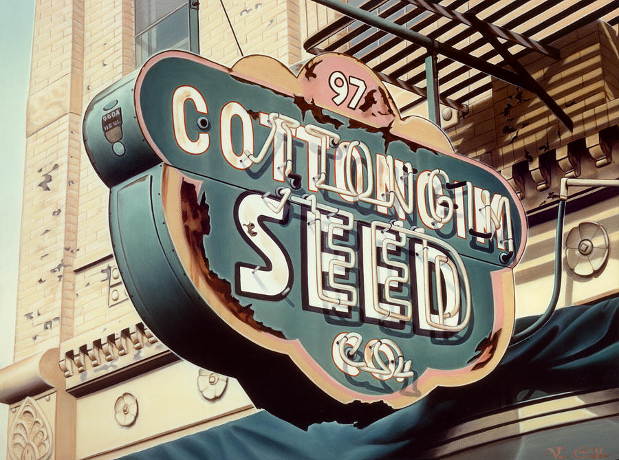 Sign Painting - Cottongim Seed by Van Cordle