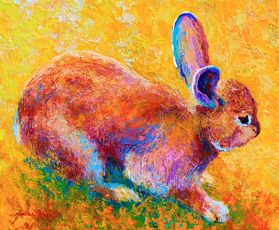 Rabbit Painting - Cottontail II by Marion Rose