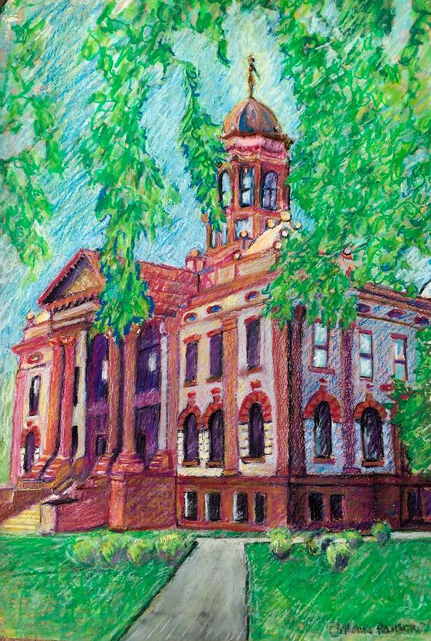 Cottonwood County Courthouse  Pastel by Catherine Hanson