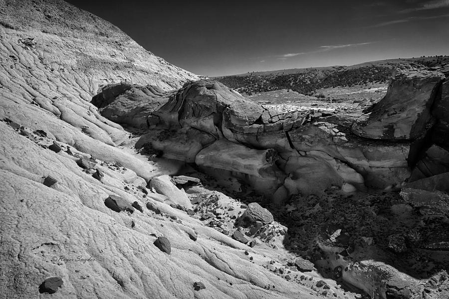Beautiful Photos Photograph - Cottonwood Creek Strange Rocks 7 Bw by Roger Snyder