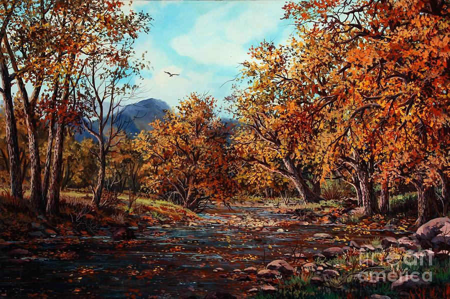 Cottonwood Creek Painting by W  Scott Fenton