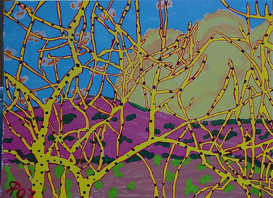 Southwest Painting - Cottonwood Number 4 by Ray  Petersen